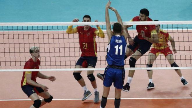 Una imagen de la final entre España e Italia.