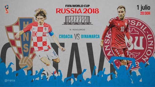 partido dinamarca croacia gratis