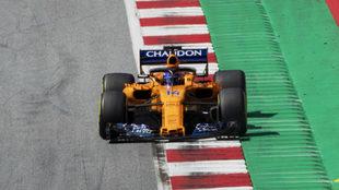 Alonso, durante el GP de Austria.