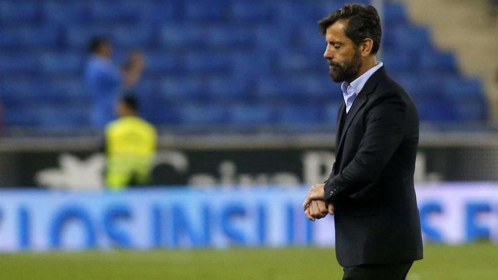 Quique Sánchez Flores, durante un encuentro con el Espanyol.