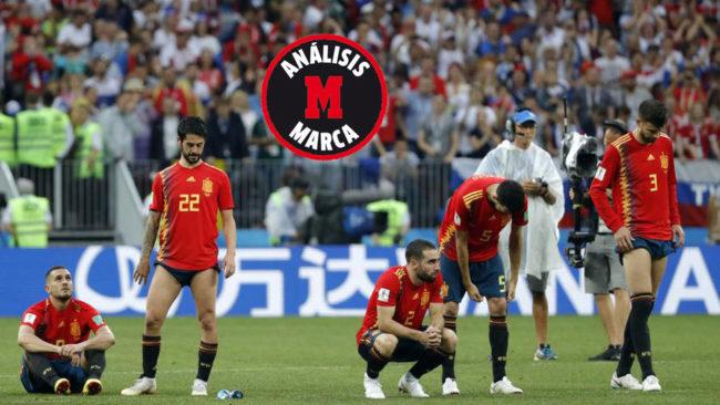 Los jugadores, abatidos tras los penaltis.