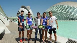 Maxi Sánchez, Lucía Sainz, Miquel Moya, Gemma Triay y José Rico, en...