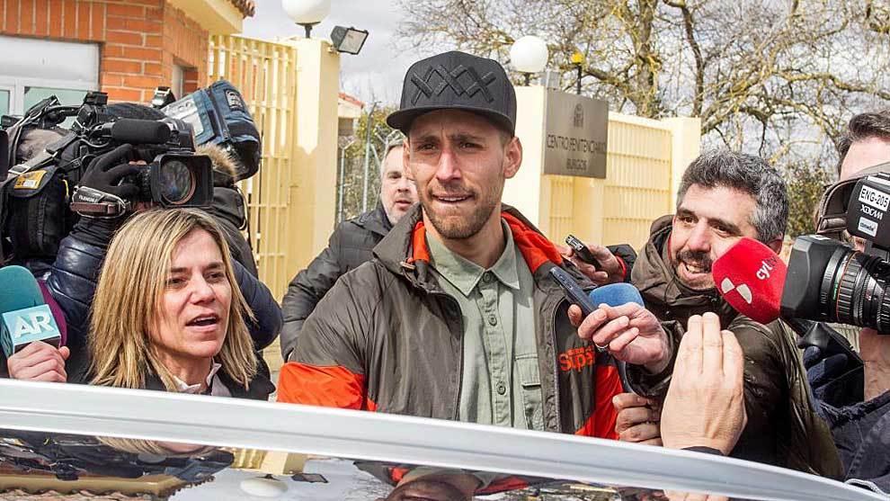 Víctor Rodríguez, el pasado mes de marzo a su salida de prisión en...
