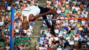 Mutaz Essa Barshim durante los Bislett Games en Oslo el pasado 7 de...