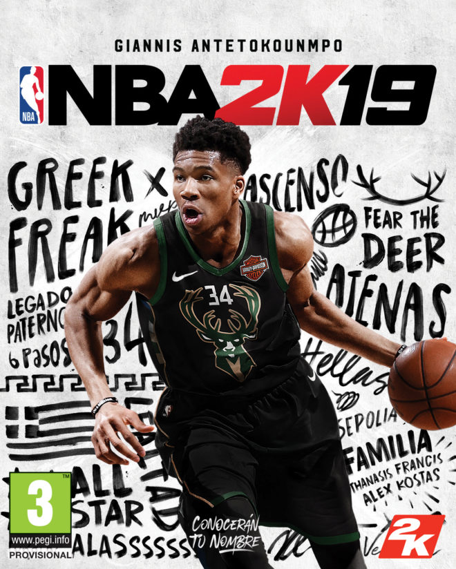 Antetokounmpo será la estrella en portada de NBA 2K19