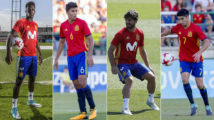 Williams, Rodri, Yeray y Soler, con la selección