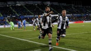 Coke celebra un importante gol contra el Getafe