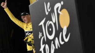 Chris Froome, durante el Tour de Francia de 2017.