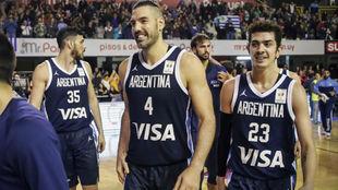 Luis Scola tras el triunfo de Argentina frente a Uruguay