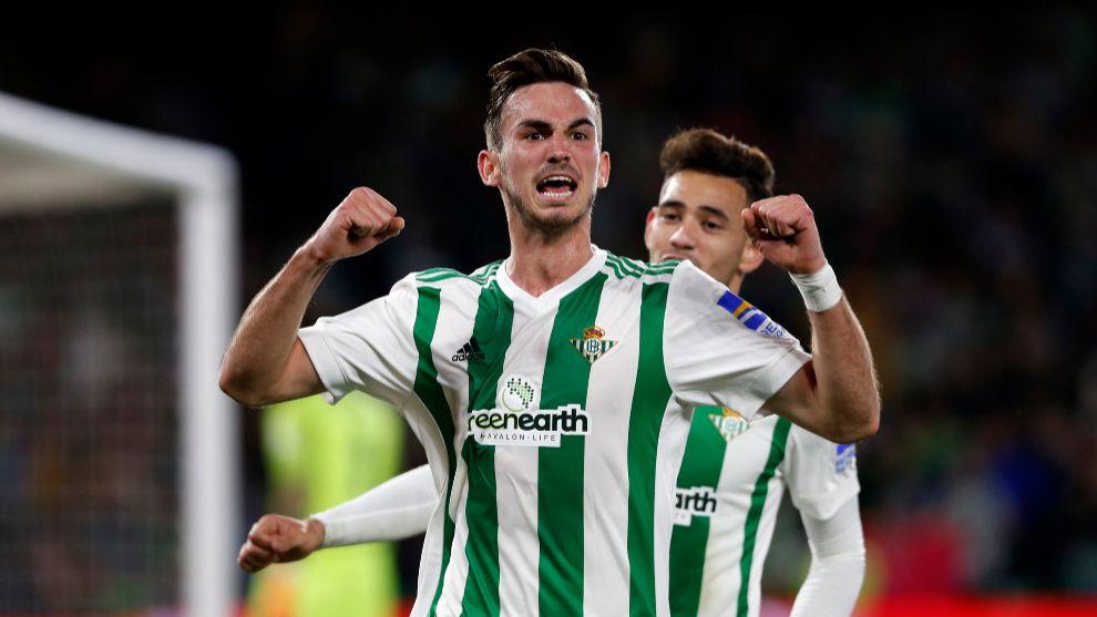 Fabián, celebrando un gol