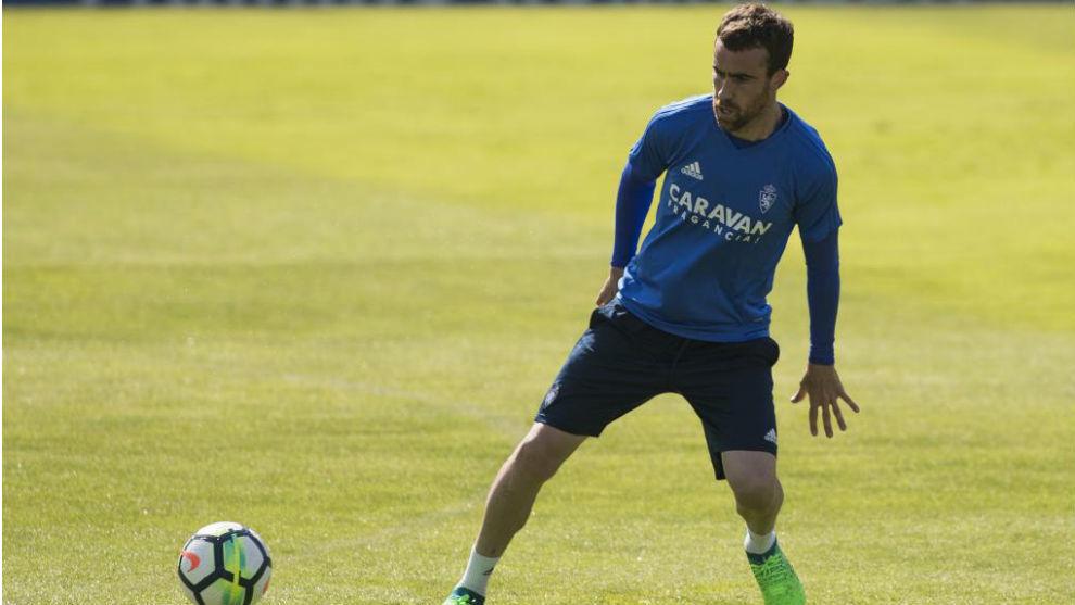 Mikel, en un entrenamiento.