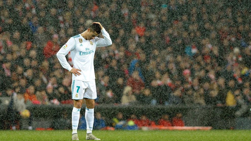 Cristiano Ronaldo, en un partido con el Madrid en el nuevo San Mamés