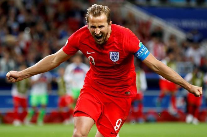 Kane celebra el gol