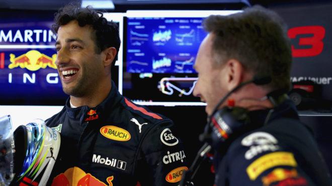 Ricciardo y Horner.