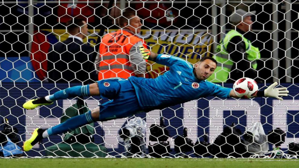 Ospina durante la tanda de penales en el Colombia-Inglaterra