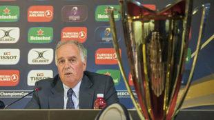 El presidente de la Federación Española de Rugby, Alfonso Feijoo,...
