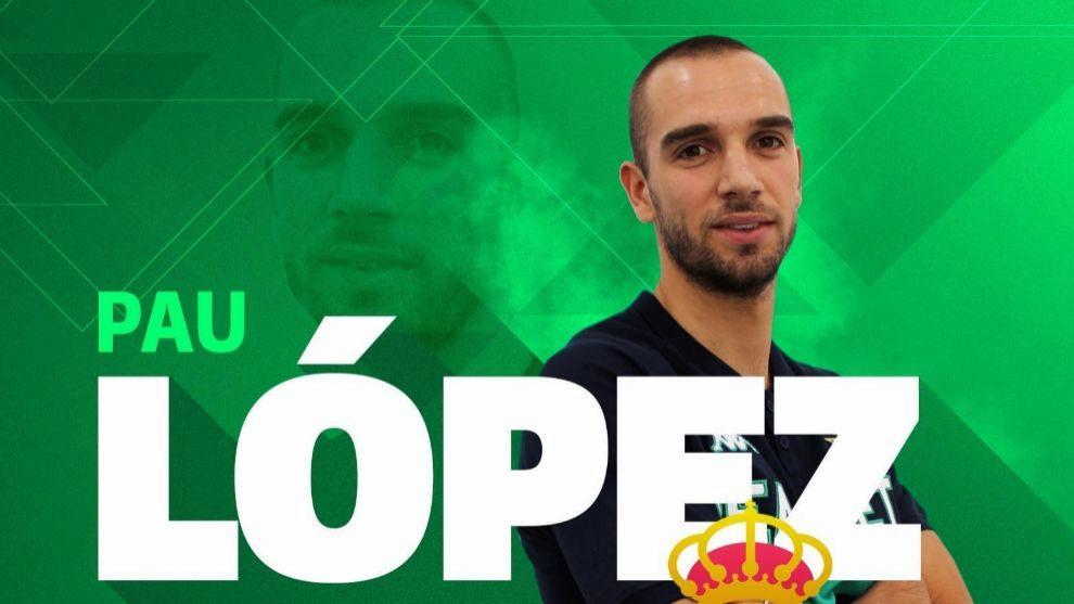 Pau López, jugador del Betis