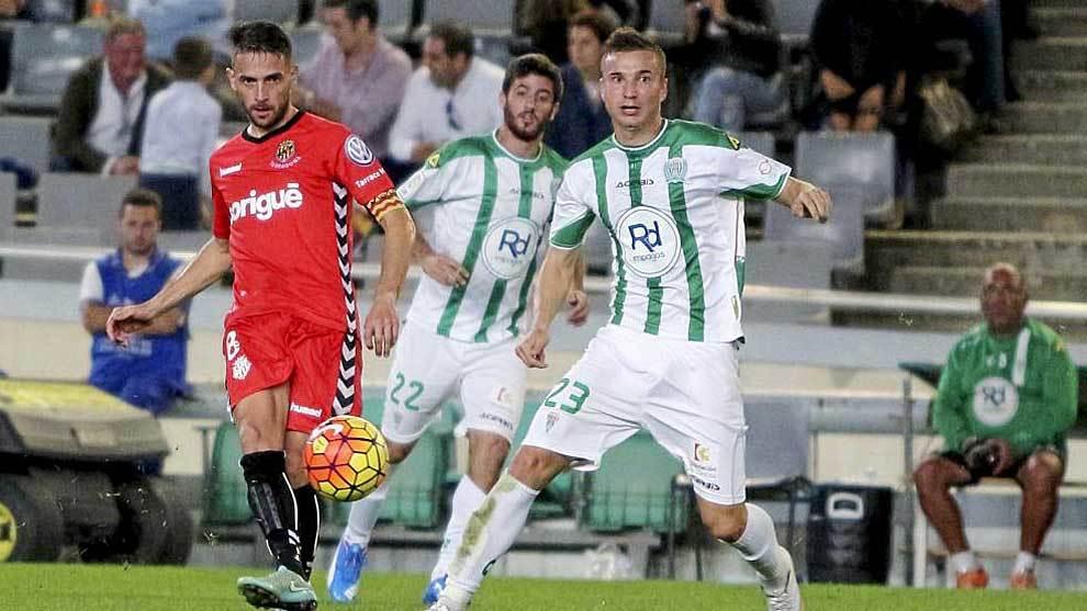 David Rocha, en un partido en Córdoba en su anterior etapa con el...