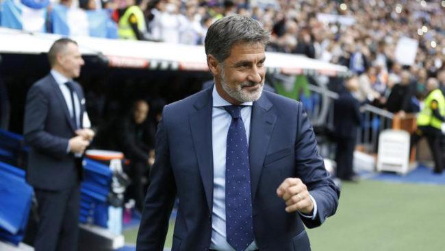 Míchel, en el banquillo del Bernabéu
