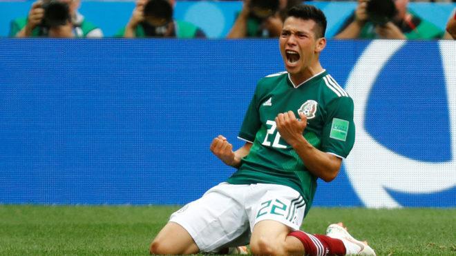 Lozano consiguió el gol de la victoria ante Alemania.