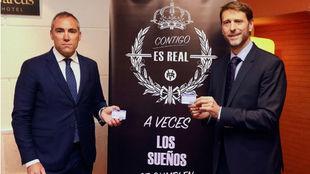 Carlos Suárez (derecha), en la presentación de la nueva campaña de...