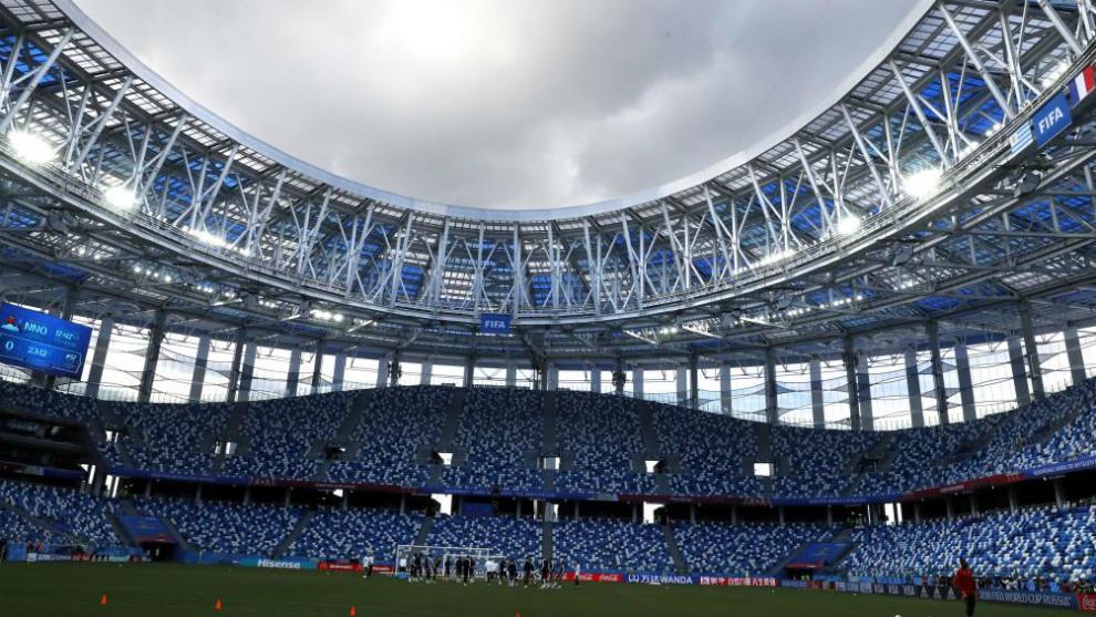 Estadio de Nizhni Novgorod, escenario del Uruguay vs Francia de...