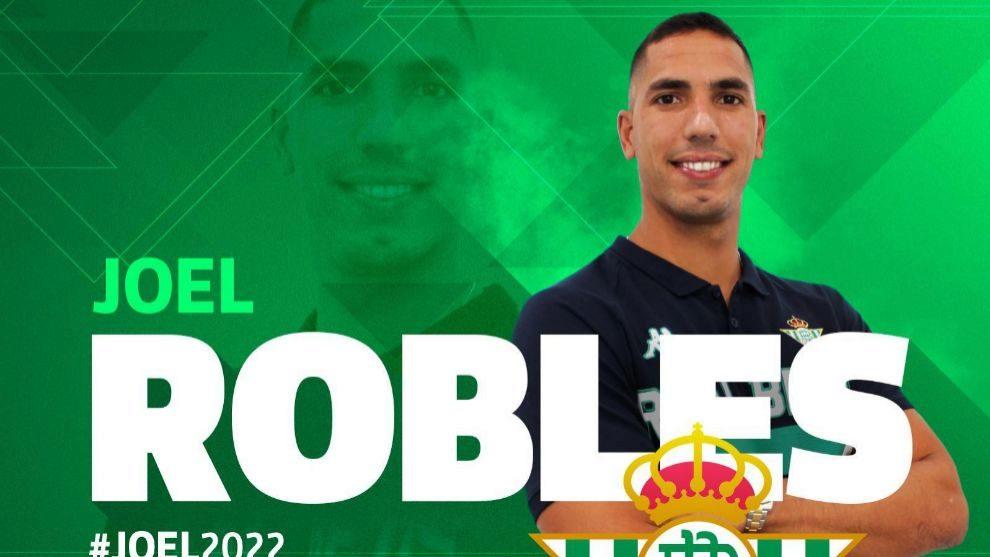 Joel Robles posa como bético