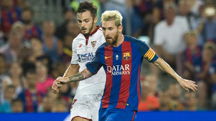 Messi y Sarabia, en una acción de la Supercopa de España de hace dos...