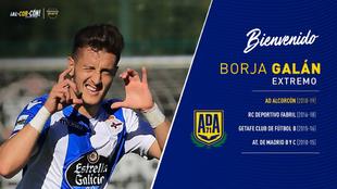 Borja Galán celebra un gol con el Deportivo Fabril, su club de...