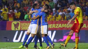 Tigres celebra su triunfo sobre Morelia