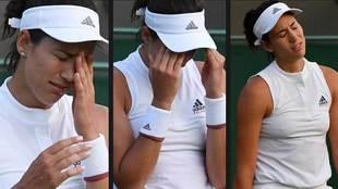 Los gestos de Garbiñe Muguruza durante el partido que perdió contra...