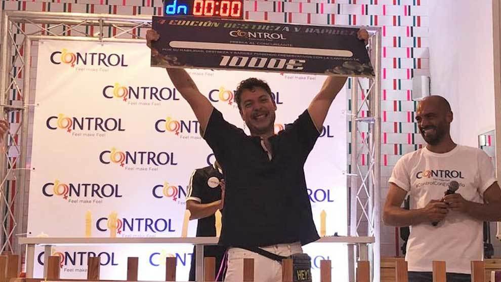 Eugenio Marinetto, ganador del IV Campeonato de Destreza y Rapidez...