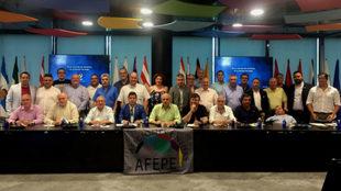 Presidentes de las Federaciones de Peñas de Aficiones Unidas en la...