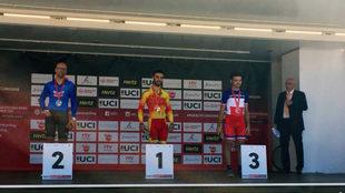 Gonzalo García Abella, en el podio en Holanda.