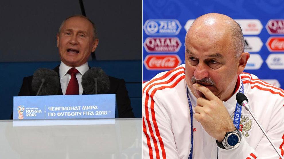 Seleccionador ruso: Putin llama para motivar al plantel de Rusia