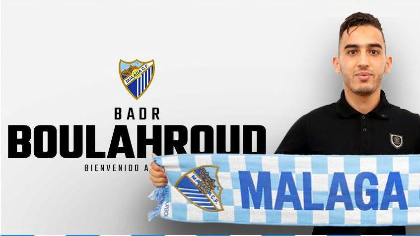 Imagen con la que el Málaga ha hecho oficial la contratación de...