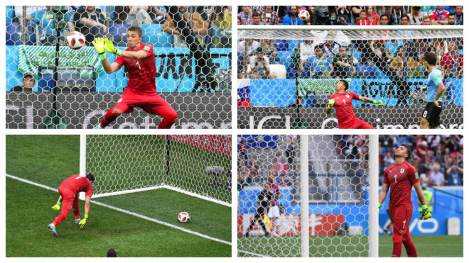 Muslera commits one of World Cup's biggest errors.