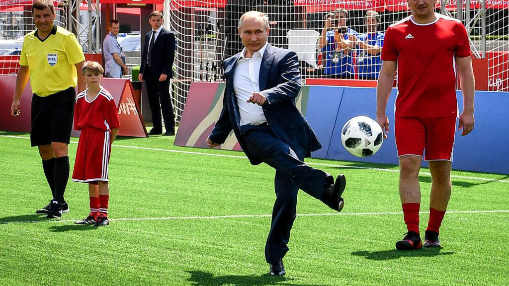 Vladimir Putin, durante un acto relativo al Mundial de Rusia