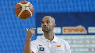 Jordi Fernández durante su etapa con entrenador ayudante en la...