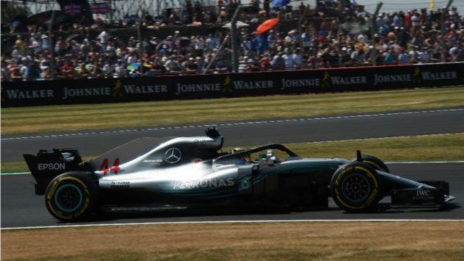 Lewis Hamilton, en Silverstone.