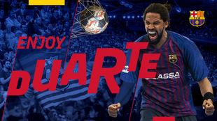 El cartel del Barcelona para anunciar el fichaje del lateral izquierdo...