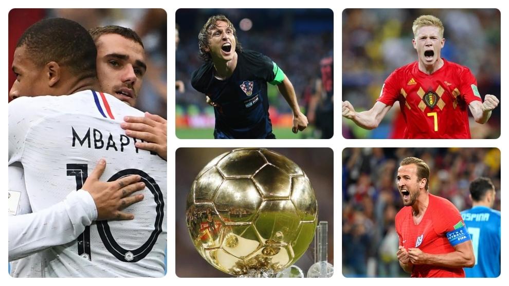 Mbappe &Griezmann, Modric, De Bruyne and Kane