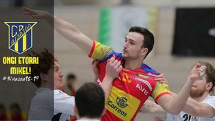 Mikel Zabala con la selección española juvenil