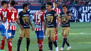 Partido entre Atlético San Luis y Pumas