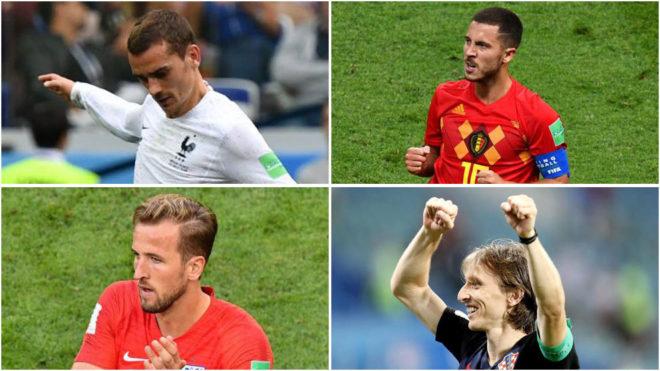 Griezmann, Hazard, Kane and Modric