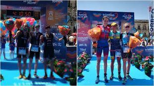 Podios de la Triathlon Vitoria-Gasteiz.