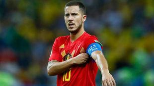 Hazard, durante un partido del Mundial de Rusia.