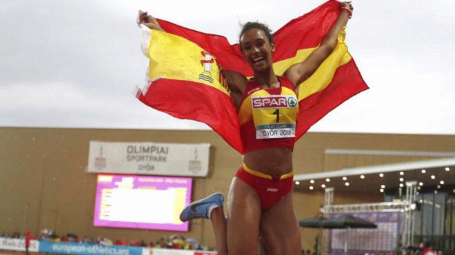 María Vicente celebra su éxito en Gyor.