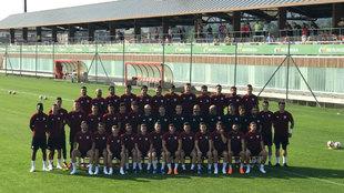 Foto oficial del entrenamiento publicada en Twitter por el club
