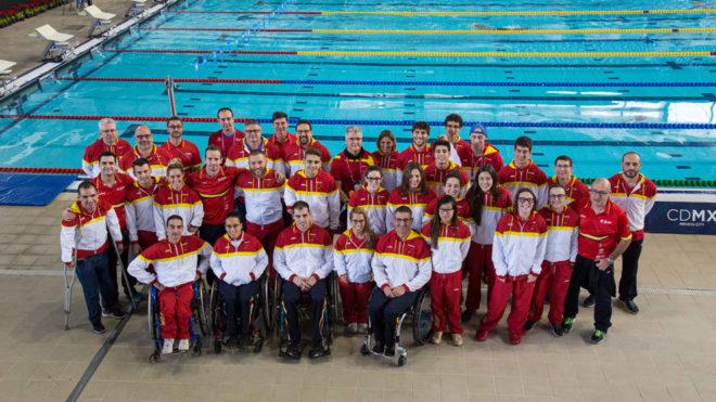 La selección nacional de natación paralímpica.